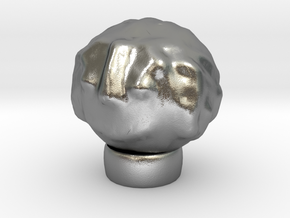 Sculptris Head With Hair On Tinkercad Ring in Raw Silver