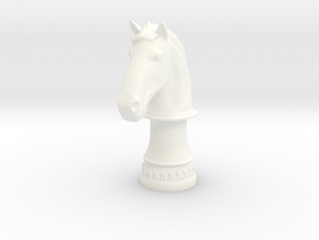 Wild Horse (Round Base) in White Strong & Flexible Polished