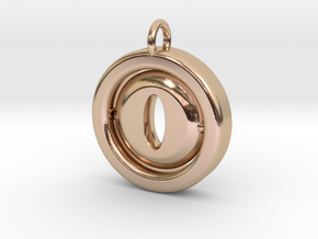 SpinningEye in Rose Gold, other materials availabl in 14k Rose Gold
