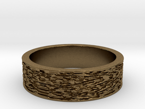 Displaced Time Ring Size 7 in Raw Bronze