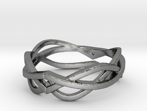 Curves 8 Ring Size 8 in Premium Silver