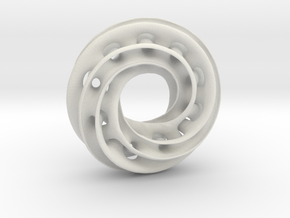 Twisty Torus with Spokes & Holes in White Strong & Flexible