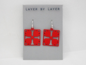 Bear Claw Earrings in Red Strong & Flexible Polished
