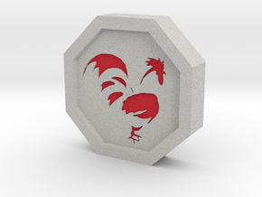 Rooster Talisman in Full Color Sandstone