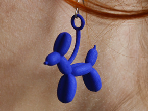 Balloon Animal in Blue Strong & Flexible Polished