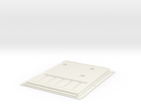 ZX80 Case Bottom in White Strong & Flexible