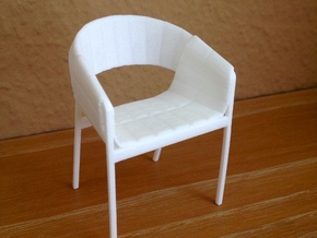1:12 Chair no. 2 in White Strong & Flexible Polished