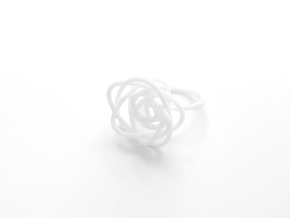 Sprouted Spiral Ring (Size 8) in White Strong & Flexible