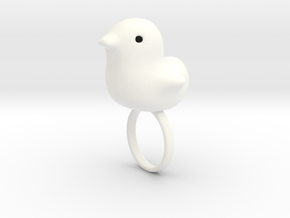 Ring Chicken Size US 6 (16.5mm) in White Strong & Flexible Polished