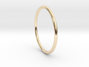 Round One Ring - Sz. 7 in 14K Gold
