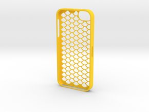iPhone 5_3D (D2) in Yellow Strong & Flexible Polished