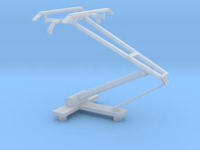 HO scale LRV pantograph in Frosted Ultra Detail