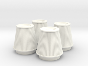 1/12 K&N Cone Style Air Filters TDR 5113 in White Strong & Flexible Polished