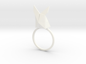 Rabbit Ring colors in White Strong & Flexible Polished