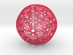 Soccer ball Abstract in Pink Strong & Flexible Polished