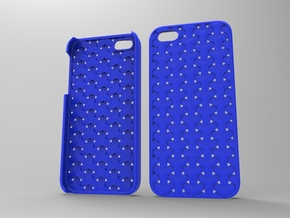 Iphone5 Case 2_4 in Blue Strong & Flexible Polished
