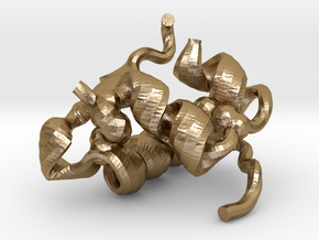 Insulin (small) in Polished Gold Steel
