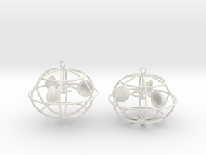 The anemometer earrings in White Strong & Flexible