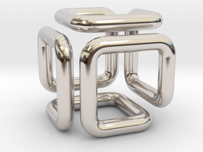 Pendant Of Cubical Wonder in Platinum