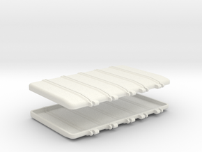1-16 T95 Engine Covers V2 in White Strong & Flexible