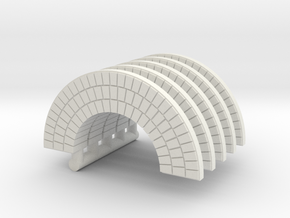 HO Brick Arch x 5 in White Strong & Flexible