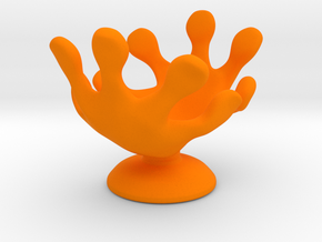 Hands Up Fun Egg Cup in Orange Strong & Flexible Polished