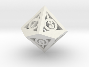 Deathly Hallows d10 in White Strong & Flexible