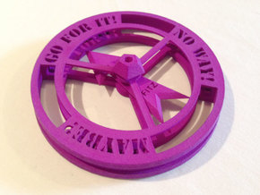 Decision Maker Spinner Game in Purple Strong & Flexible Polished