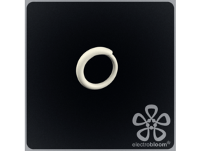 Snap ring. Size 17.5mm in White Strong & Flexible