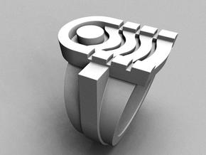 Kharma Ring - Size 9 (18.99 mm) in Polished Silver