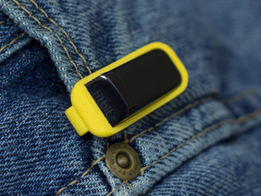 Pocket Clip for Fitbit Flex in Yellow Strong & Flexible Polished