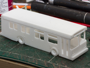 HO scale 1:87 new flyer d30lf bus 30ft in White Strong & Flexible
