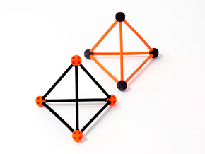 'Sprued' Tetrahedron #color in Orange Strong & Flexible Polished