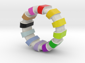 Style Ring colorful  in Full Color Sandstone