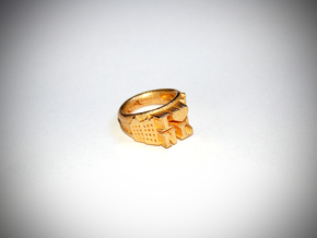 I Love Holland Ring D20 in Polished Gold Steel