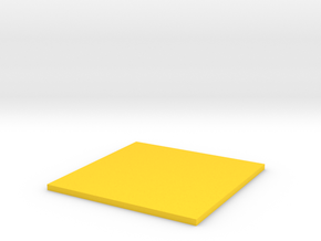 Square in Yellow Strong & Flexible Polished