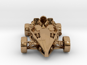 Ariel Atom brass pendant, HO scale LHD w/o wings in Polished Brass