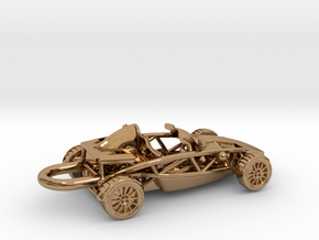 Ariel Atom brass pendant, HO scale RHD w/o wings in Polished Brass