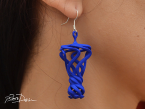 Flamboyant Teardrop Earrings / 3D Printed Earrings in White Strong & Flexible