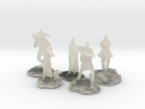 Cleric, Fighter, Rogue, Ranger, and Sorcerer in Transparent Acrylic