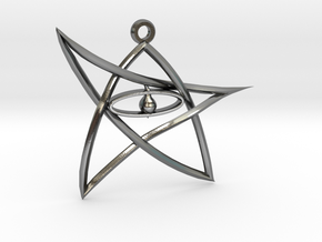 ElderSign Pendant in Polished Silver