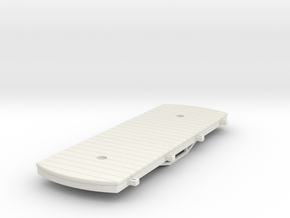 Gn15 bogie flat with stake pockets  in White Strong & Flexible