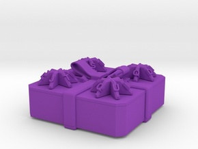 Present - Centrifugal Puzzle Box in Purple Strong & Flexible Polished