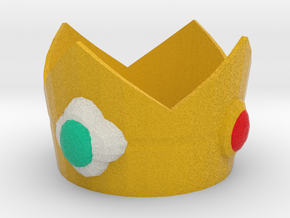 Princess Daisy cosplay mini crown in Full Color Sandstone