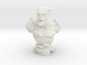 Gargoyle Bust 1 (4.5in - 11.4cm) in White Strong & Flexible