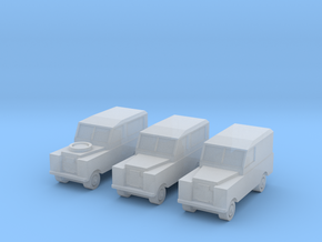 1:450 Land Rover Series 2a, Set of 3, for T gauge in Frosted Ultra Detail