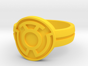 Sinestro Double Banded (Sz5-15) in Yellow Strong & Flexible Polished