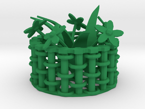 Weaving basket in Green Strong & Flexible Polished