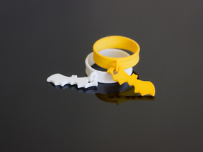 Bat Charm Ring (Size 6.5) in Yellow Strong & Flexible Polished