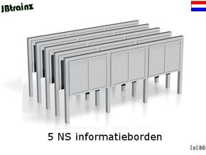 5 NS informatieborden (n-scale) in Frosted Ultra Detail